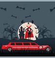 vampire dracula cartoon character luxury vector image vector image