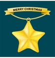 Vintage Christmas 3d decoration star toys vector image vector image
