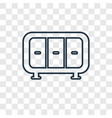 wardrobe concept linear icon isolated on vector image