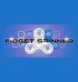 white fidget finger spinner horizontal web banner vector image vector image