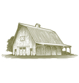 Woodcut Barn Icon vector image vector image