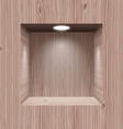 Wooden niche for presentation vector image vector image