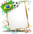 brazilian signboard soccer theme vector image
