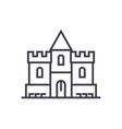 castle line icon sign on vector image