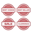 Red Rubber Stamp Set Sale best seller best choice vector image
