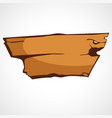 a wooden plate vector image