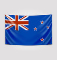 hanging flag of new zealand new zealand national vector image