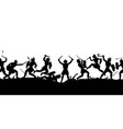 ancient battle scene silhouette vector image vector image