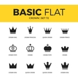 basic set of crown icons vector image vector image