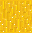bitcoin stack seamless pattern vector image vector image