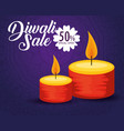 candles decoration to diwali hindu festival vector image vector image
