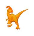 cartoon parasaurolophus character fantastic vector image vector image
