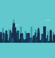 chicago city skyline chicago skyscraper building vector image