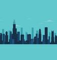 chicago city skyline chicago skyscraper building vector image