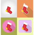 christmas and new year flat icons 02 vector image vector image