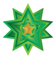 christmas golden star icon symbol design vector image
