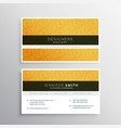 clean yellow business card design with elegant vector image vector image