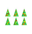 collection of christmas trees-cone set modern vector image vector image