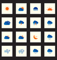 Collection of colorful sketch weather icons vector image