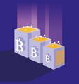 crypto mining bitcoin icons vector image