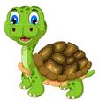 cut cartoon turtle vector image vector image