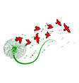 dandelion and birds vector image