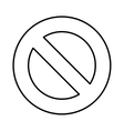 denied sign isolated icon vector image vector image