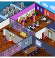 Development Office Isometric Design Concept vector image vector image