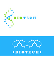 DNA logo sign vector image vector image