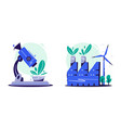 eco research cartoon ecology vector image vector image