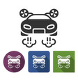 flying car icon in different variants with long vector image vector image
