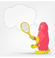 Funny Monster Tennis vector image vector image