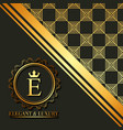 golden geometric initial monogram template emblem vector image
