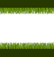 green grass horizontal frame isolated on white vector image vector image