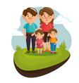 happy family design vector image vector image