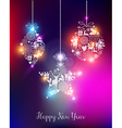 Happy new year 2015 elegant lights card vector image vector image