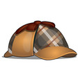 hat detective isolated on white background vector image