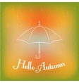 Hello autumn card vector image vector image