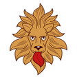 heraldry royalty symbol lion with tongue and mane vector image vector image