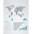 infographics elements world map vector image