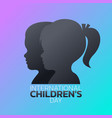 international children day logo icon design vector image vector image
