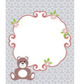 invitation card bear vector image