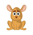 isolated cute kangaroo on white background vector image vector image