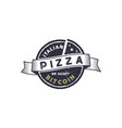 italian pizza for bitcoin emblem we accept btc vector image vector image