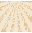 light beige vintage background with rays vector image