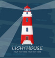 lighthouse red tower symbol blue backgrounds vector image vector image