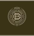 Logo beer pub b and p emblem
