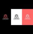 love shop bag logo design premium vector image