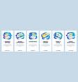 mobile app onboarding screens order food online vector image vector image