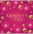 mother s day elegant greeting card with flowers vector image vector image